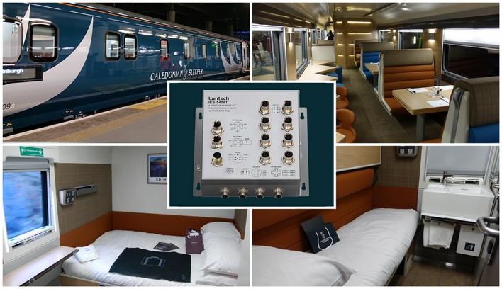 Коммутаторы Lantech в новых вагонах используются на всех маршрутах Caledonian Sleeper в Великобритании