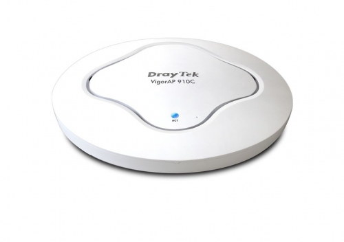 VigorAP 910C Ceiling-mount wireless access point is ideal for hospitalities, small offices and small campus.